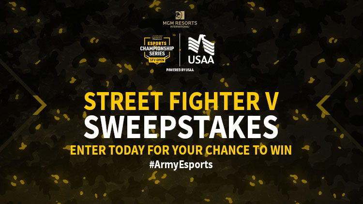Army Entertainment Esports: Street Fighter V Online Sweepstakes