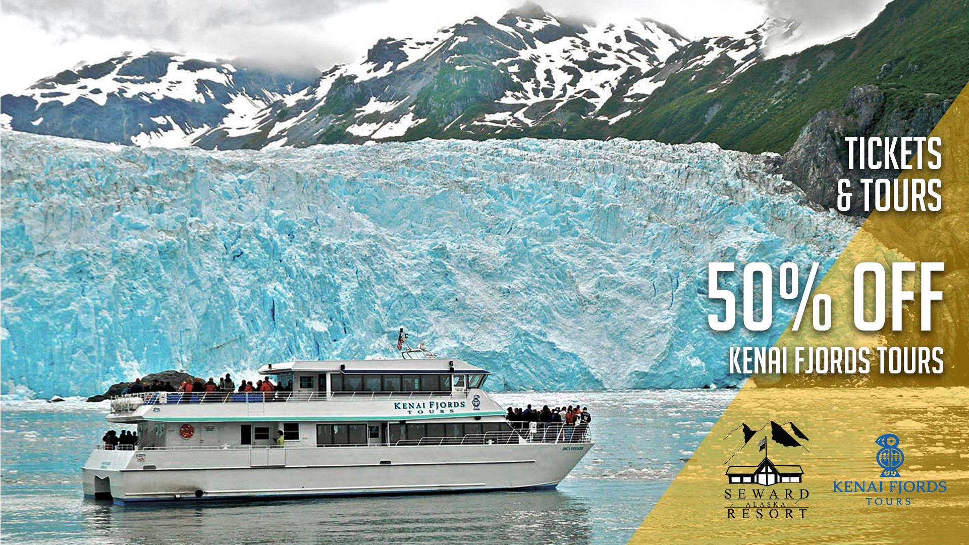 Seward Military Resort Tickets & Tours - Kenai Fjords Tours 50% Off Sale on March 8, 2018