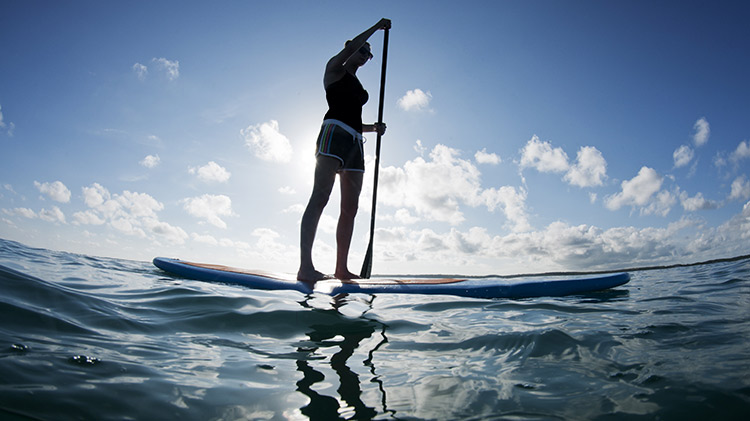 Stand-up Paddleboarding to the Boatel