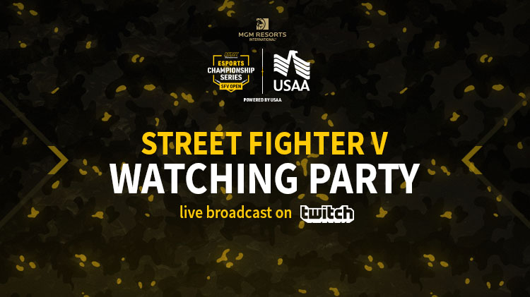 Army Entertainment Esports Championship: Street Fighter V Twitch Live Stream Broadcast