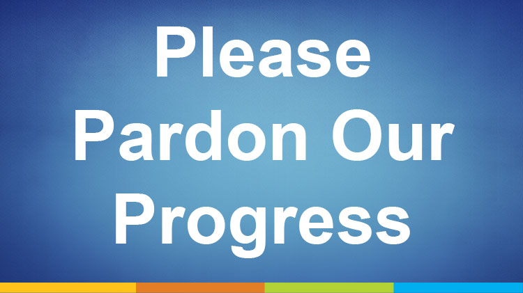 Please Pardon Our Progress