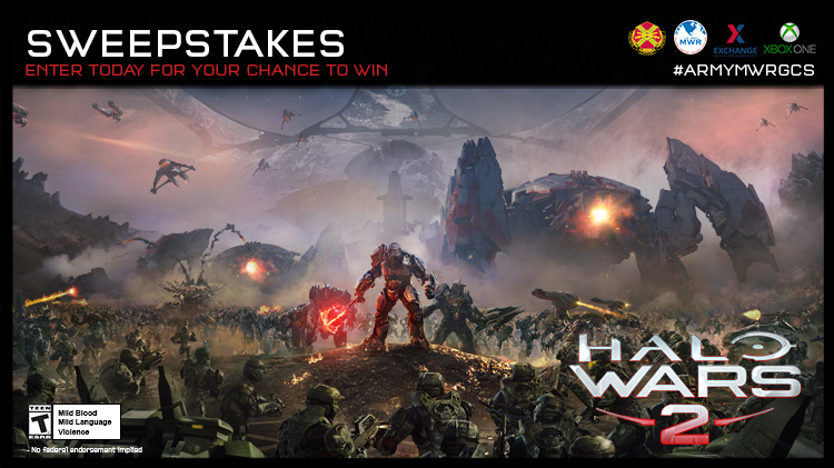 Army MWR Gaming Championship Series: Halo Wars 2 Online Giveaway