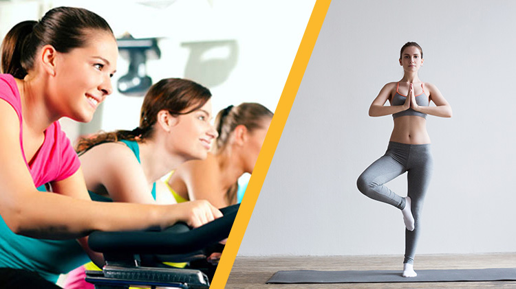 Instructor's Choice Fitness Class (Yoga or Cycling & Abs)